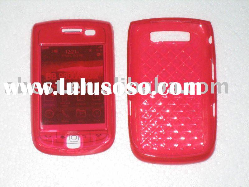 for blackberry 9800 transparent hard case/blackberry mobile phone (new)