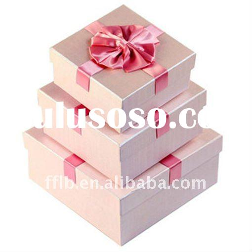grace pink rose paper gift box packaging box for Valentine's day