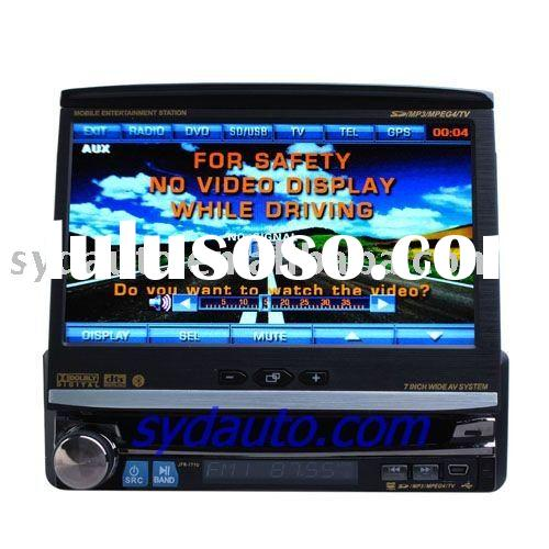 high quality 7-inch Digital Touch Screen 1 Din In-Dash Car DVD Player With DVD/VCD/MP3/MPEG4/DIVX/JP