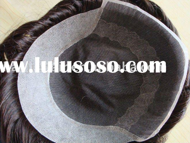 high quality full lace men's toupee