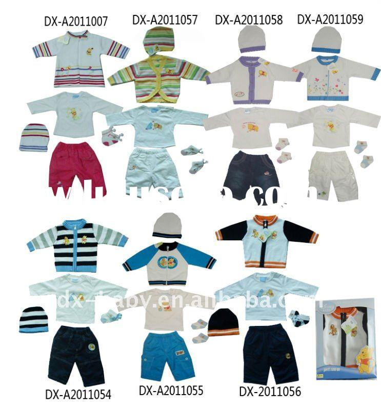 hot sale fashion 100% cotton winter baby wear with sweater