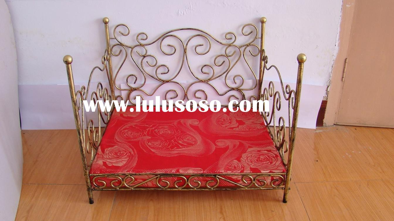 lovely dog's wrought iron bed