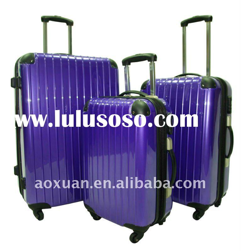 men PC/ABS hard shell trolley luggage set