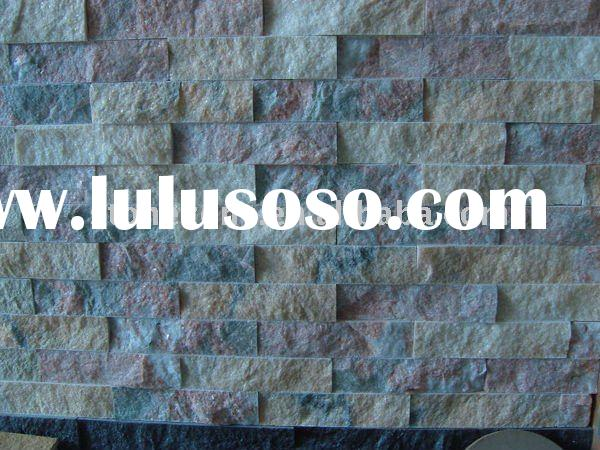 mixed color cultural stone wall panel