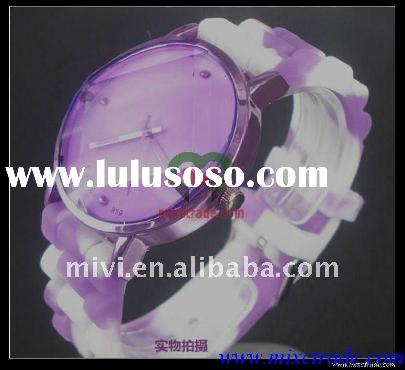 new arrival sport quartz watch silicone watch with diamond hot silica jelly watch candy gift watch c