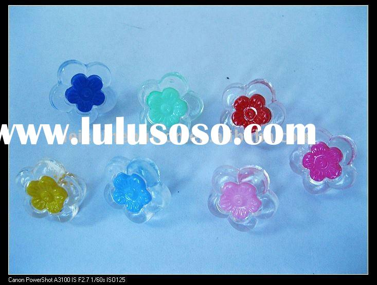 nice plastic kids buttons with flower