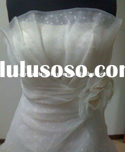 organza 2012 hot sell off-shoulder wedding evening dress