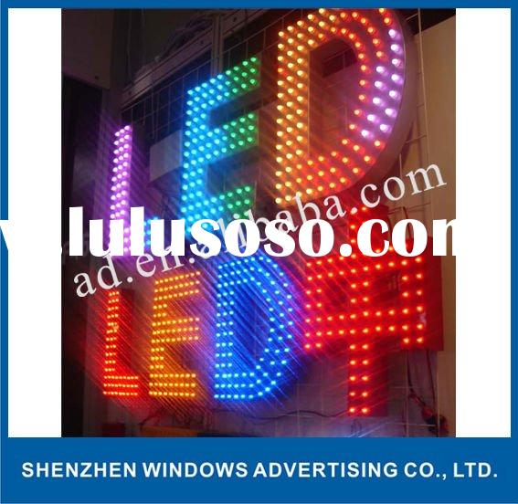 outdoor sign led letter