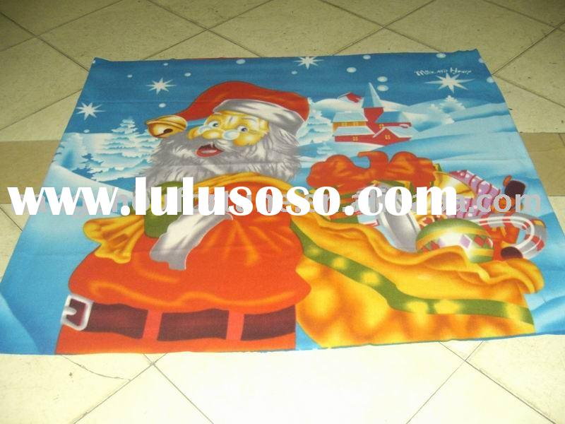 panel printed christmas polar fleece blanket
