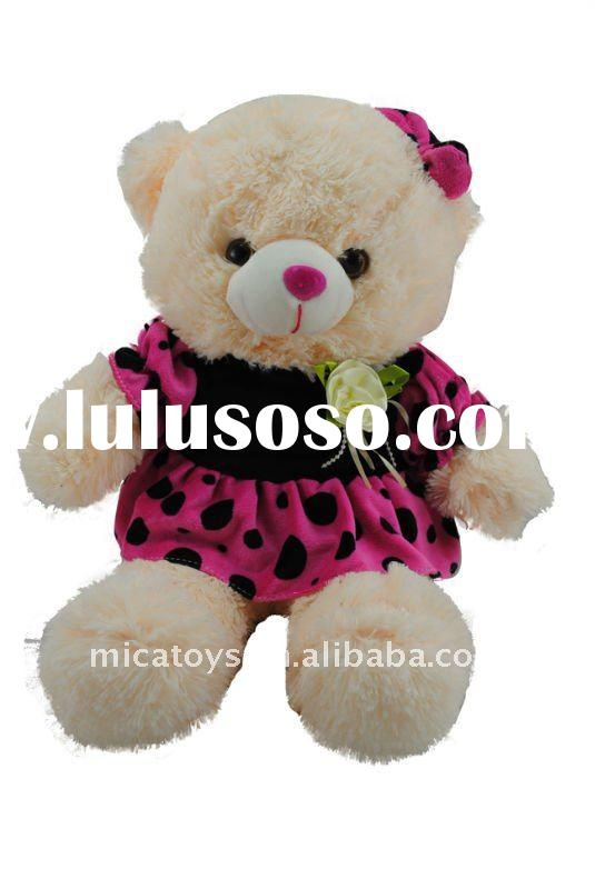 plush toy bear ,plush teddy bear with dress