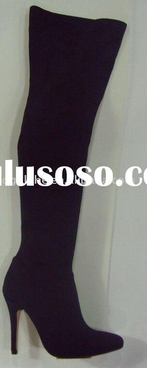 pointy toe, high heel, over knee high fashion ladies boots