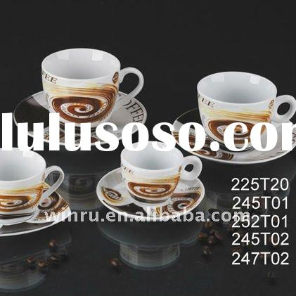 porcelain coffee cup saucer set
