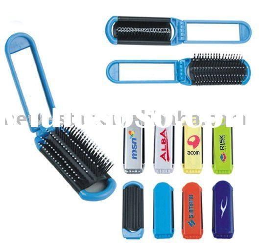 promotion plastic hair brush with mirror NCM001