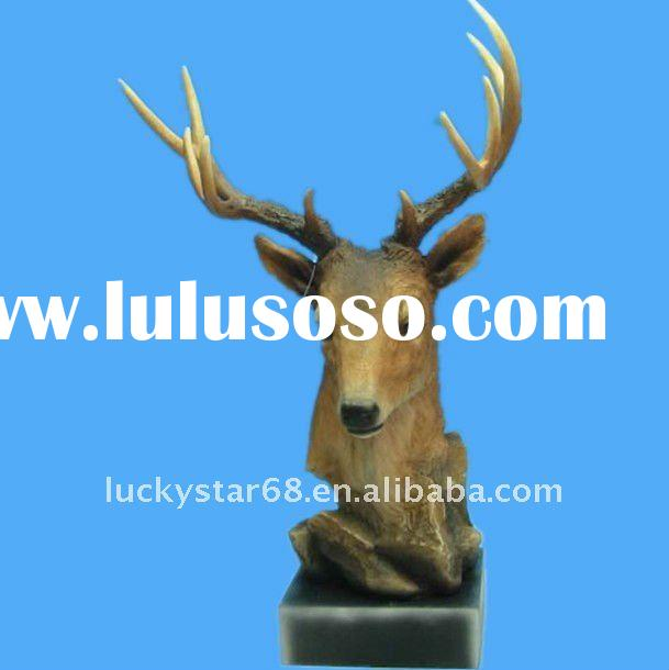 resin deer head wall decoration