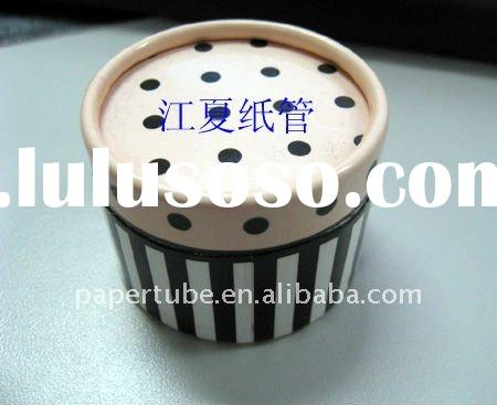 round curled paper tube for gift packaging/ elegant printing paper box with special design/cosmetic