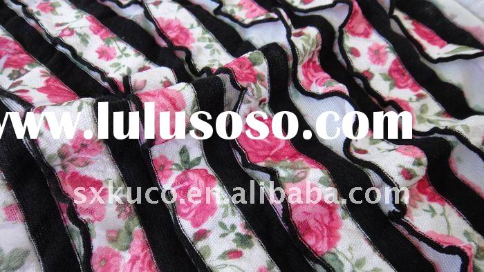 ruffle double knitted fabric