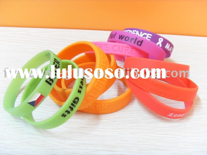 silicone bracelet,silicone rubber band,promotion wristband