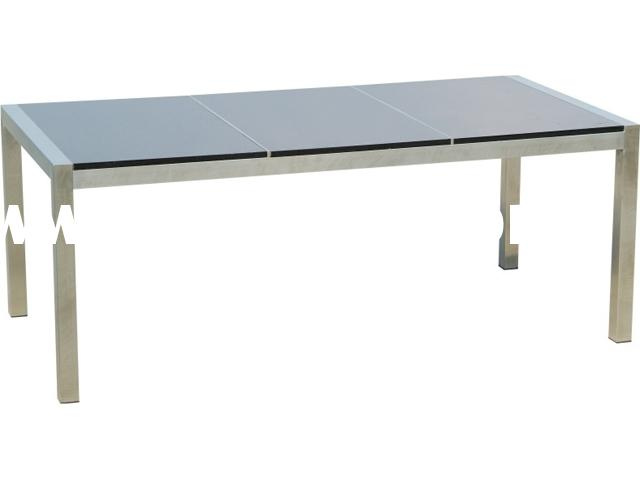 stainless steel frame marble top outdoor table