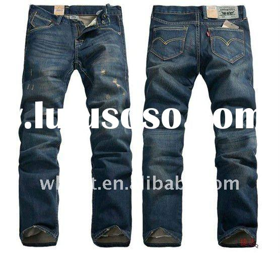 straight designer denim jeans men
