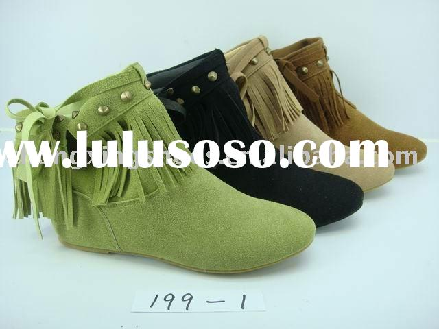 tassel ankle boots