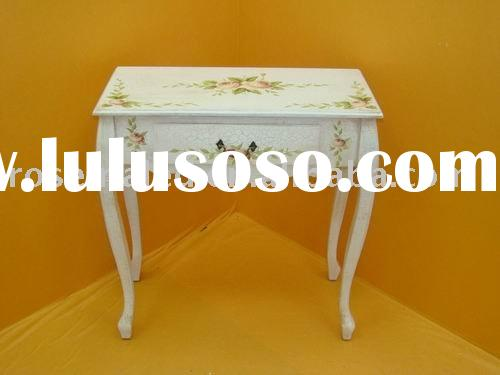 the exquisitive antique flower table or telephone table in the home decor.