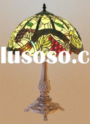 tiffany stained glass grape table lampara