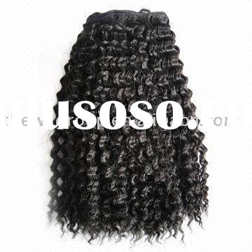 top quality clip in curly hair extension accept paypal