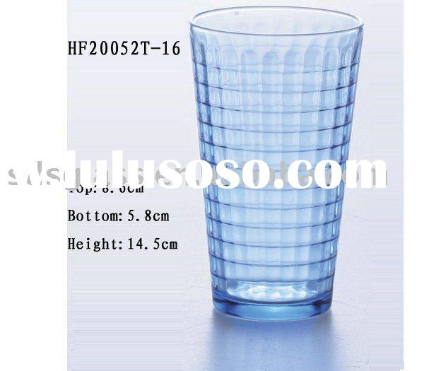 water glass cup, blue glass cup, drink ware, water cup