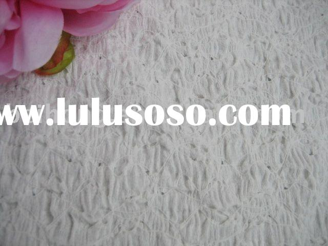white jacquard nylon lace fabric