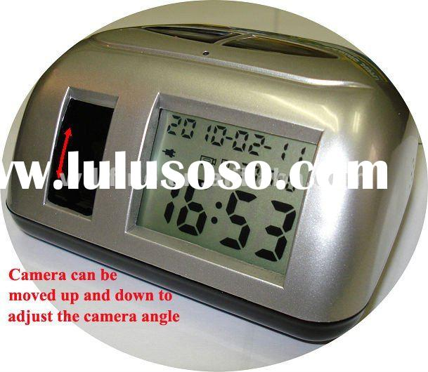 wireless hidden clock camera motion detection function