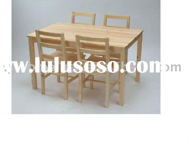 wooden ding table chairs