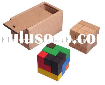 wooden double magic block puzzle game