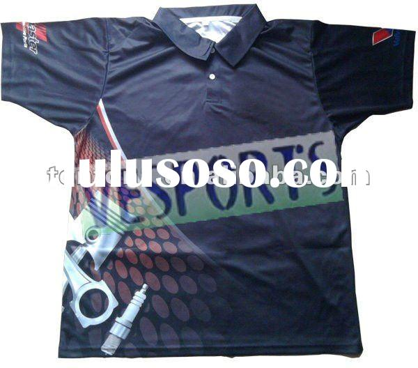 100% polyester custom sublimation polo shirts
