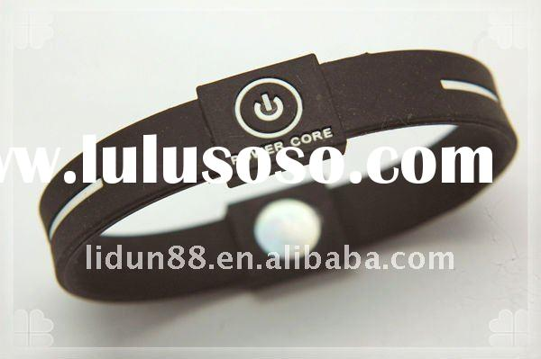 2011Colors-available Power Core Silicone Energy Bracelet in Hologram,100%silicone,Anti-radiation and