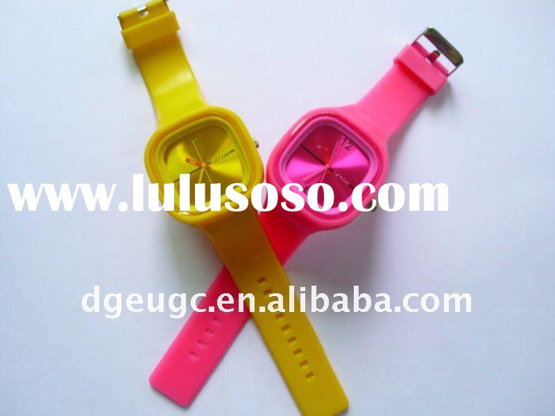 2011 colorful silicone jelly watch men