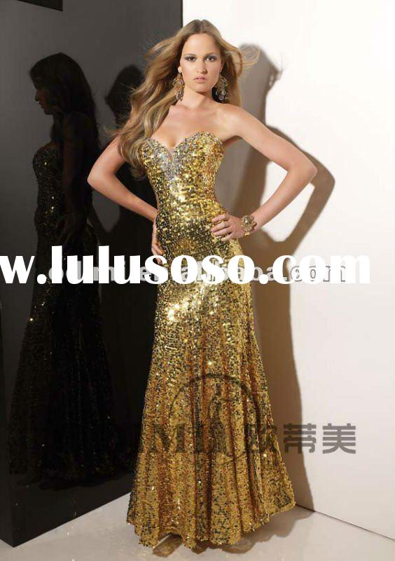 2012 New Arrival Sheath Sequined Evening Party Dress