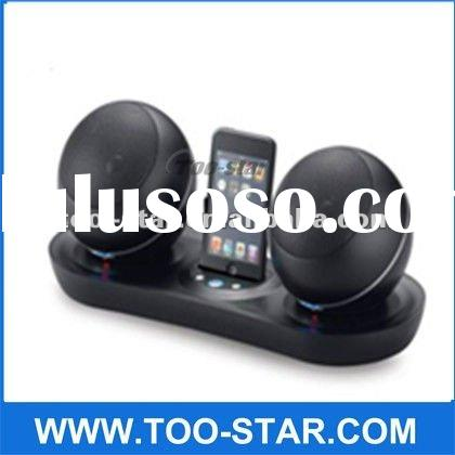 2012 New Fashion simple 2.4G wireless bluetooth mini speaker with docking station for iphone/ IPOD