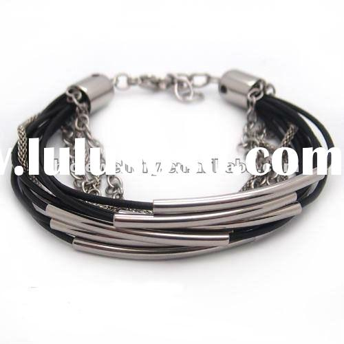 2012 feature genuine leather wrap bracelet for boy and girl hot sales