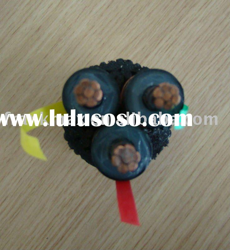 630mm2 IEC60840 four core Underground Pure copper/Aluminum Armoured XLPE Power Cable UP To 35KV