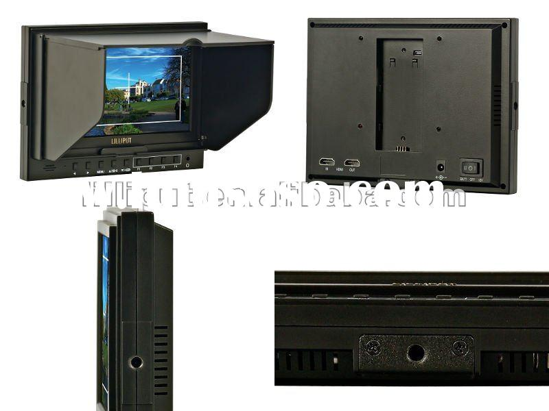 7 Inch LCD Monitor with HDMI Input and output(optional) camera-top monitor