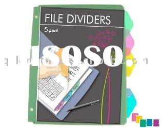 A4 index dividers for 3 ring binder