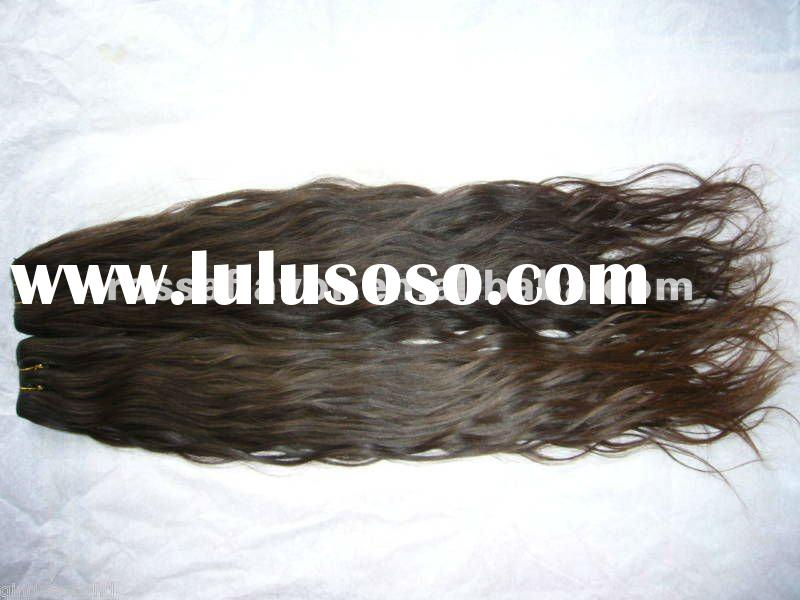 AAA quality unprocessed machine made indonesia human hair