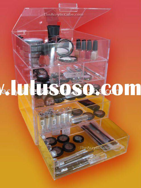 Acrylic Clear Cube Cosmetic Makeup Organizer 5 Drawers