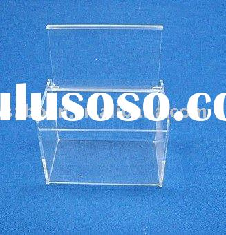 Acrylic Recipe Box,Perspex Cookbook Box,Lucite Recipe Holder