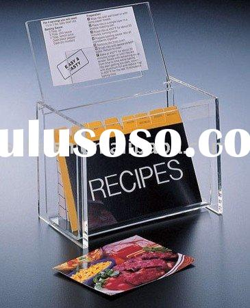 Acrylic Recipe Box,Perspex Cookbook Box,Plexiglass Box