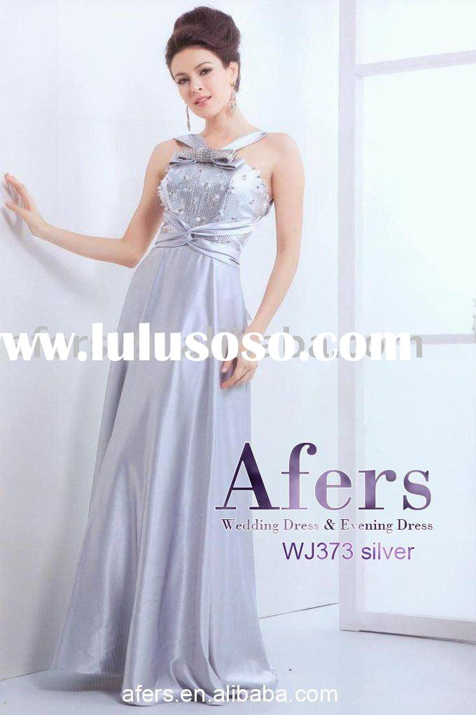 Afers newest evening gown,silver party dress NO.WJ373