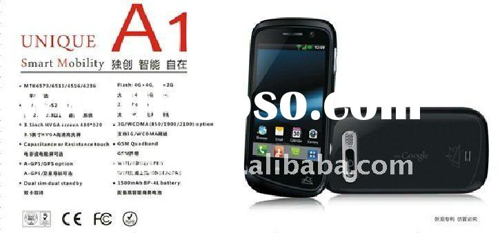 Android 2.2 mobile phone with EDGE/GSM/GPRS:850/900/1800/1900, WAP,WiFi,Java,BT,FM
