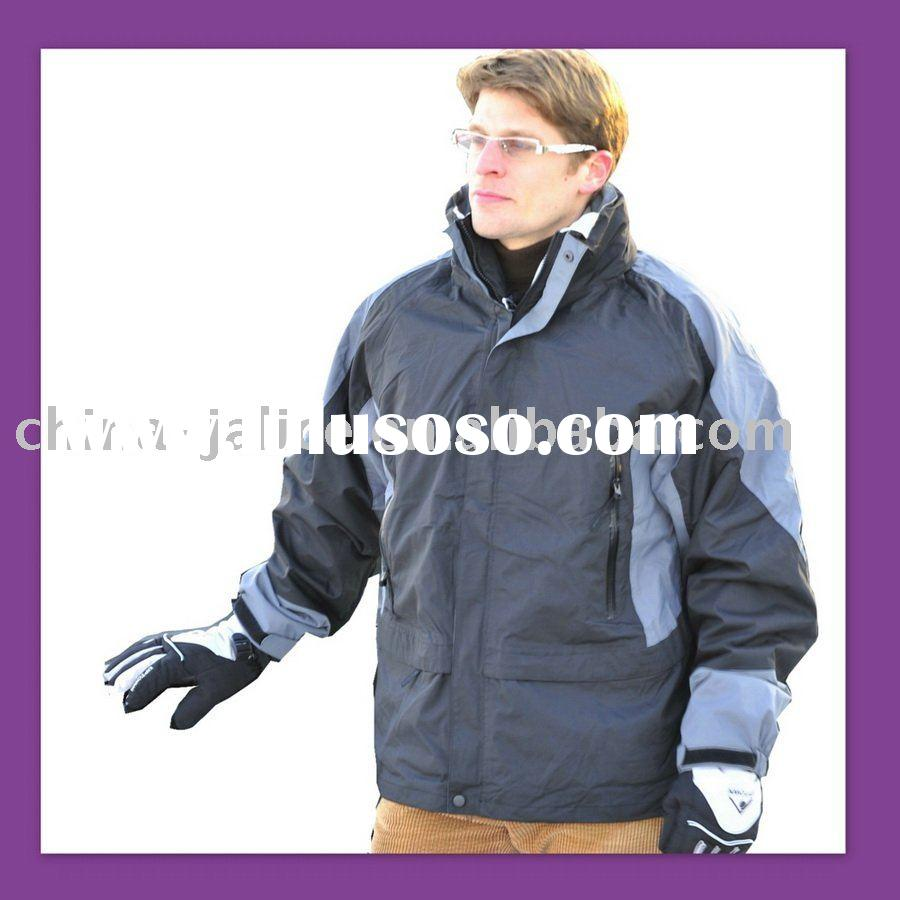 Breathable Mens Nylon Snowboard Jacket with Inner Bodywarmer Wear---NM0003