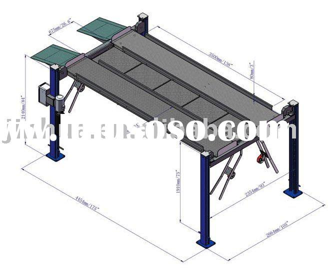 Car Lift Drawing Four Post FPP208N 8000LB/3.6T 2286mm width between posts