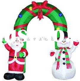 Christmas inflatables, inflatable santa&snowman arch